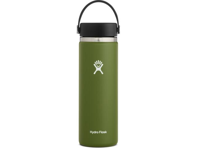 Hydro Flask Wide Mouth Gourde avec Bouchon Flex 591ml, olive